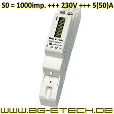 LCD Wechselstromzähler Stromzähler S0 LCD 5(50)A - B+G e-tech - DRS155D