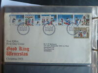 UK 1973 CHRISTMAS SET 6 STAMPS FDC FIRST DAY COVER