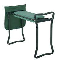 Bench Kneeling Soft Eva Pad Seat With Stool Pouch Folding Garden Kneeler