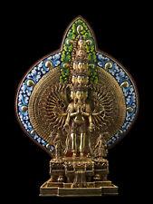 Statue tibétaine Bodhisattva Chenrezig Avalokiteshvara Tibet Nepal 36cm  26407