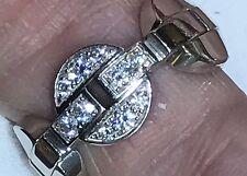 Authentic! CARTIER HIMALIA  18k WHITE  Gold Diamond Band Ring Size 50 US 5 1/2