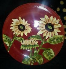 "Set of 2 ~ Summer Bloom 11"" DINNER PLATES by Tabletops Gallery"