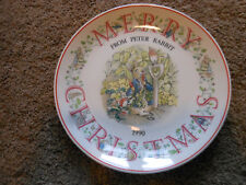 Wedgwood Peter Rabbit Merry Christmas Plate, 1990, Beatrix Potter Designs