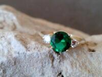 Natural Certified Handmade 14K 5.25 Ct Emerald Gem Victorian Engagement Ring