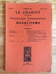 Le Chariot n°80 / Février 1937 revue Occultisme Astrologie Philosophie