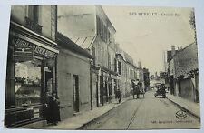 CPA LES MUREAUX Grande Rue Yvelines Old Postcard Carte Postale Ancienne 1930