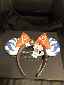 NWT Ahsoka Tano Minnie Mouse Ear Headband Ashley Eckstein Star Wars IN HAND