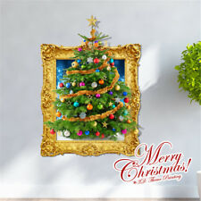 3D Christmas Theme Wall Stickers Mural Decals For Home Shop Window Decor F