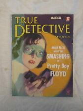 True Detective March 1935 Key Issue Pretty Boy Floyd Excel. Cond. NRA Stamp