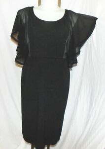 ISABEL TOLEDO LANE BRYANT Womne's Black Sheath Cocktail Dress Size 16