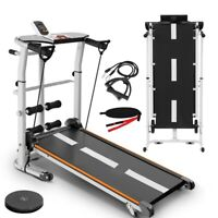 4 in 1 Folding Treadmill Running Jogging Machine Gym Fitness Mechanical Treadmil