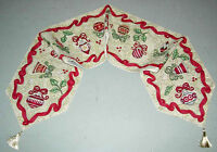 Ornamental Holiday ~ Christmas Bulbs Tapestry Table Runner