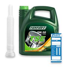 5L Fanfaro TSE Motoröl 5W-30 API SN/CH-4 VW 502.00 505.00 MB 229.1 + Öl Schlauch