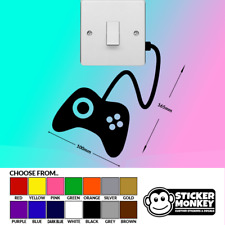 Games Controller Switch / Wall / Socket - Vinyl Decal Sticker - Any Colour!
