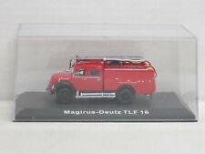 Magirus-Deutz Mercur TLF 16 Feuerwehr, ohne OVP + Vitrine, Editions Atlas, 1:72