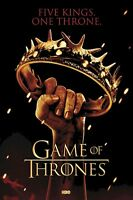 GAME OF THRONES POSTER ~ FIVE KINGS ONE THRONE 24x36 TV Crown George Martin