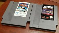Nintendo NES Jeopardy & Monopoly loose game carts, cleaned & tested, authentic