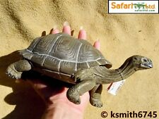 "Safari BIG TORTOISE solid plastic toy pet wild zoo animal reptile 8½""  * NEW *"
