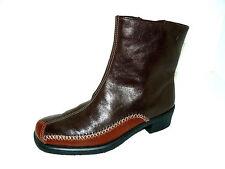 ROHDE dunkelbraune Leder Stiefeletten Damen 37,5 UK 4,5 Winter Schuhe NEU
