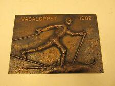 "VASALOPPET Bronze Metal Collectible 1982 4.5"" x 3"" CROSS COUNTRY SKI RACE SWEDEN"