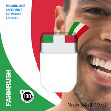 RUGBY 6 NATIONS FLAG FACE PAINT ITALY ITALIA GREEN WHITE RED BANDIERA ITALIA
