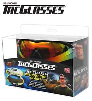 Bell + Howell Tac Glasses –Military Style Sunglasses Glare & Enhance Colors ASTV