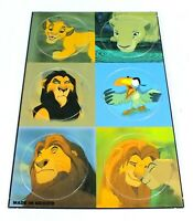 DISNEY Pogs THE LION KING Uncut SHEET Simba NALA Scar ZAZU