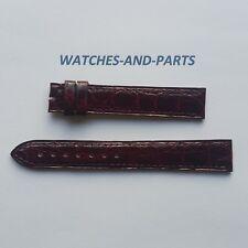 Cartier Aubergine Crocodile Leather Strap 15/14mm NEW GENUINE ORIGINAL
