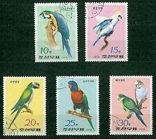 francobolli 2 SERIE COMPLETE 5v + 3v Uccelli Corea del Sud timbrati