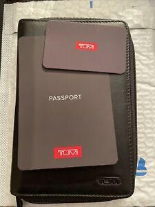 Delta SLG Tumi Credit Card Wallet Organizer Passport Holder Black Zipper Closure