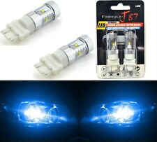 LED Light 30W 4157 Blue 10000K Two Bulbs Front Turn Signal Replace Upgrade Show