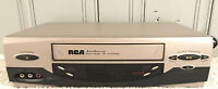 RCA VR637HF 4-Head HiFi Stereo VCR VHS Cassette Player  No Remote Tested