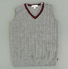 New Authentic Gucci Wool V-Neck Sweater Vest w/BRB Web, 9-12 Month, 270242