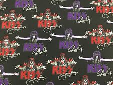 RPFRK169 KISS Gene Simmons Paul Stanley Rock N Roll Destroyer Cotton Fabric
