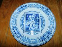 ANTIQUE WEDGWOOD BLUE TRANSFERWARE THOMAS ALLEN BANQUET DINNER PLATE MUTTON