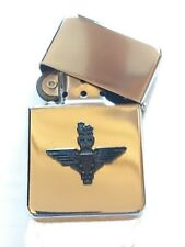 Parachute Regiment Black, on Chrome Plated Windproof Petrol Lighter in Gift Box