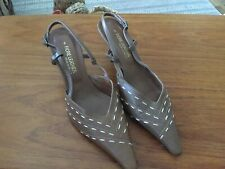 FIORE LEATHER SLING BACK POINTY TOE SHOES SIZE 6....