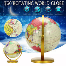 3 Size Vintage Style 360° Rotating Globe Swivel Map Earth Geography World