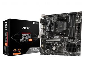 MSI B450M PRO-VDH MAX AMD Ryzen B450 DDR4 Micro ATX Motherboard Socket AM4