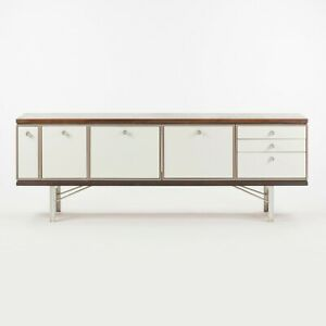 1960 Gerald Luss Rosewood & Metal Credenza Cabinet Once Attributed to Eames IBM