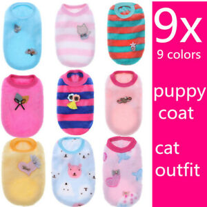 9x Lot Dog Clothes Puppy Cat Outfit Dog Hoodie Pajamas for yorkie maltese XXS XS