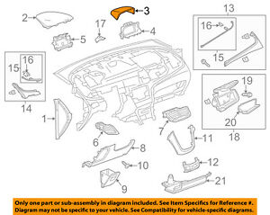 Buick GM OEM 13-16 Encore Instrument Panel Dash-Center Cover 95088034
