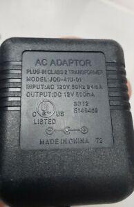JOD-41U-01 POWER SUPPLY Tested Working  Input: 120v Output:12v 500ma AC ADAPTER