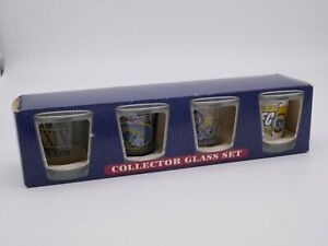 Hunter Collector Shot Glass Set ST. Louis Rams Supper Bowl XXXIV Champs