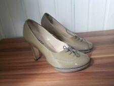 Chaussures à talons cuir beige verni à lacets REPETTO 36 comme neuf