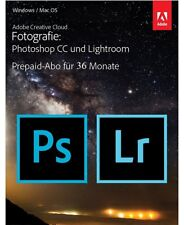 Adobe Creative Cloud (Photoshop CC und Lightroom CC), 36 Monate  Abo