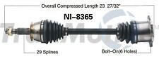 Rear Driver Left CV Axle Shaft SurTrack NI-8365 for Nissan 350Z G35 2003-2009