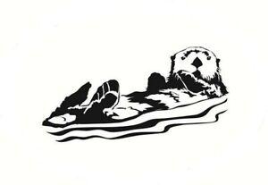 Otter Vinyl Die Cut Car Decal Sticker