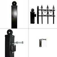 """2 Gate Hinges 1-5//8-1-3//4 and 2 Hang Bolts 5//8/"""" Pin X 4-1//2/"""" For Farm Gates"""