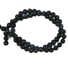 8mm Blue Goldstone Round Beads 15